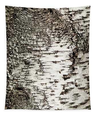 Birch Tree Bark Tapestry