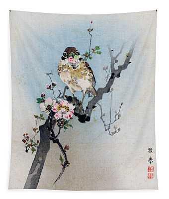 Bird And Petal Tapestry