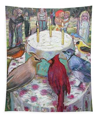 Bird Day Party Tapestry