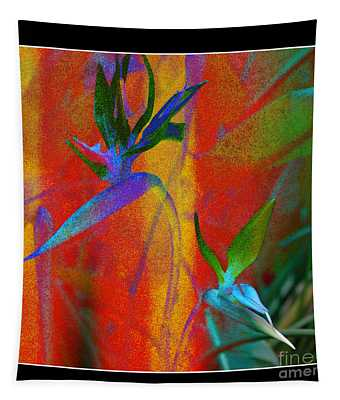 Bird Of Paradise Creative With Border Tapestry