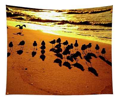 Bird Shadows Tapestry