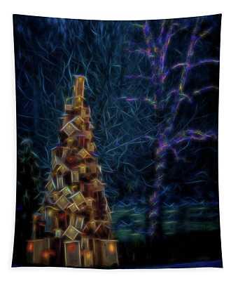 Birdhouse Tree Tapestry