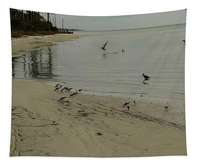 Birds On Beach Tapestry
