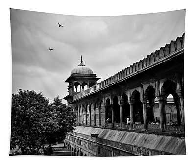 Tapestry featuring the photograph Birds Over The Jama Masjid by Whitney Goodey