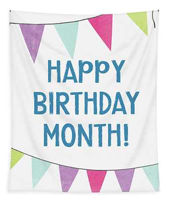 Birthday Month Flags- Art By Linda Woods Tapestry