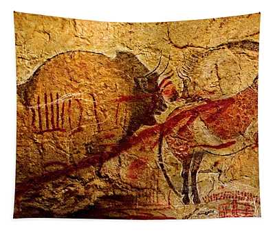 Bisons Horses And Other Animals Closer Tapestry