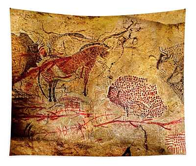 Bisons Horses And Other Animals Tapestry