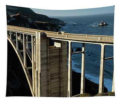 Bixby Bridge California Panorama Tapestry