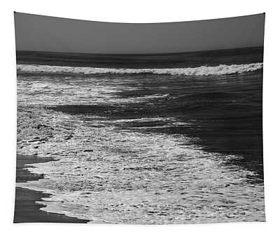 Black And White Beach 2- Art By Linda Woods Tapestry