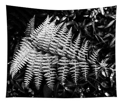 Black And White Fern Tapestry