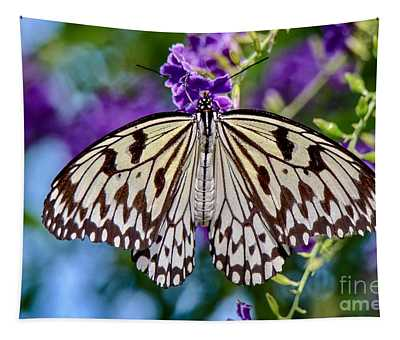 Black And White Paper Kite Butterfly Tapestry