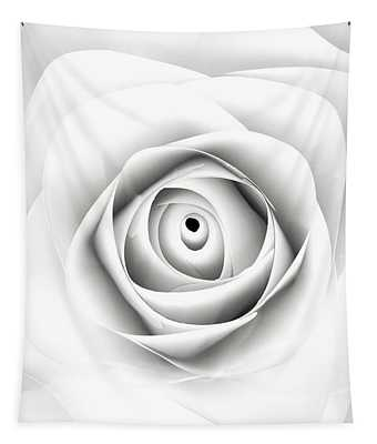 Black And White Paper Rose Tapestry