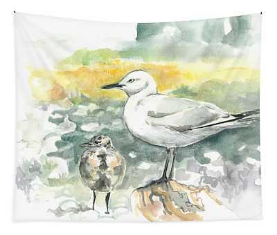 Black-billed Gull Family Tapestry