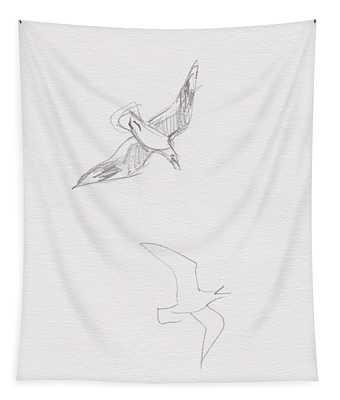 Black-billed Gulls Tapestry