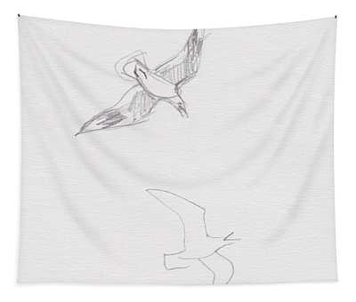 Black-billed Gulls Tapestry