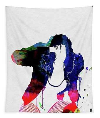 Black Eyed Peas Watercolor Tapestry