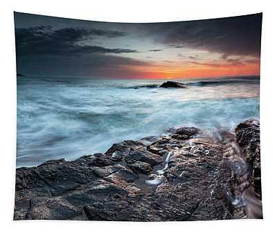 Black Sea Rocks Tapestry