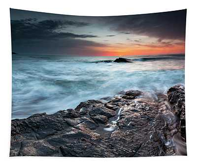 Black Sea Rocks Tapestry