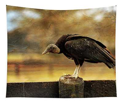 Black Vulture Tapestry