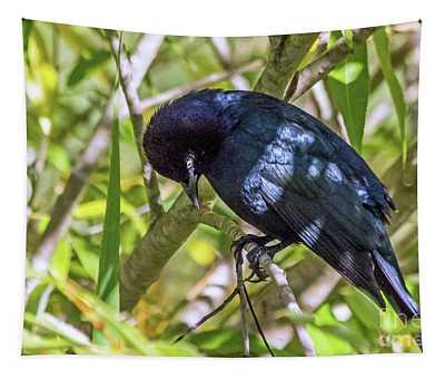 Blackbird In A Tree Tapestry