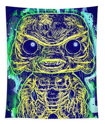 Creature From The Black Lagoon Pop Tapestry