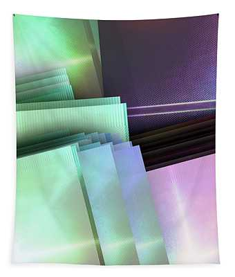 Blank Reflective Aluminum Plates. Blue, Pink And Purple. Fashion Abstract Background. Tapestry