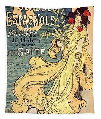 Blesses Espagnols Matinee Vintage French Advertising Tapestry