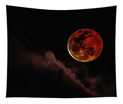 Blood Moon Rising Tapestry