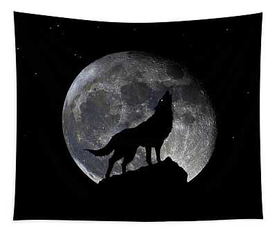 Pre Blood Red Wolf Supermoon Eclipse 873r Tapestry