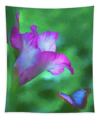 Blossom And Butterfly Tapestry