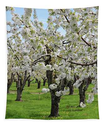 Blossoming Spring Day Tapestry