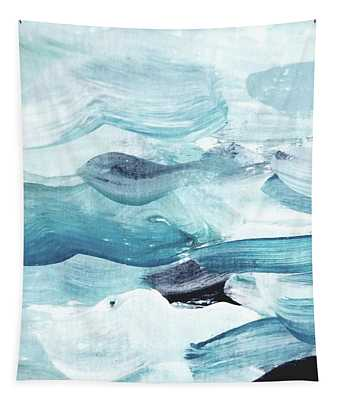 Tapestry featuring the painting Blue #14 by Maria Langgle