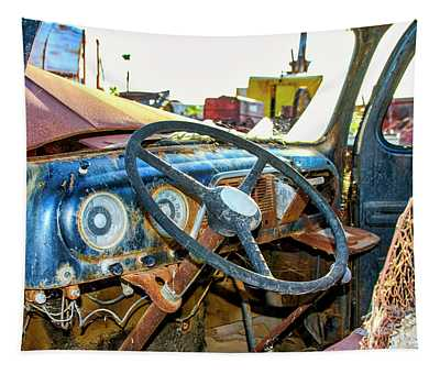 Blue 1952 Ford F5 Truck Tapestry