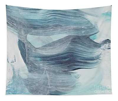 Tapestry featuring the painting Blue #5 by Maria Langgle