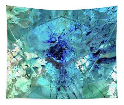 Blue Abstract Art - Heaven's Gate - Sharon Cummings Tapestry