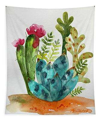 Blue Agave Cactus Tapestry
