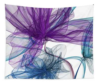Blue And Purple Abstract Art Tapestry
