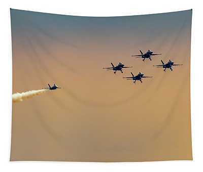 Blue Angels Pass Through Tapestry