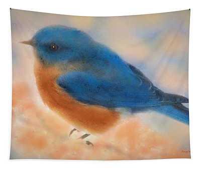 Blue Bird Spring Tapestry