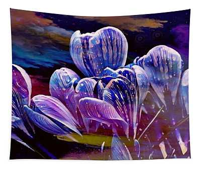 Blue Bloom Tapestry