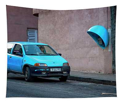 Blue Car Tapestry