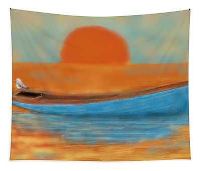 Blue Dinghy Tapestry