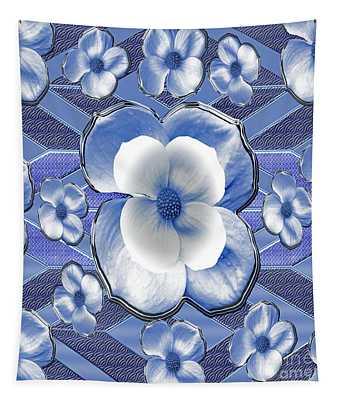 Blue Dogwood Tapestry