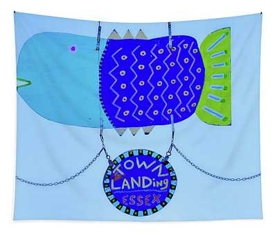 Blue Fish Art Tapestry