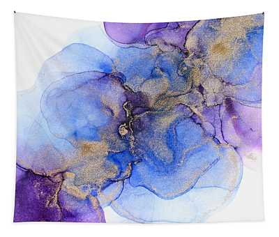 Blue Florals Tapestry