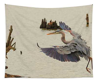 Blue Heron 2 Tapestry