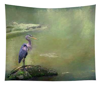 Blue Heron Isolated Tapestry