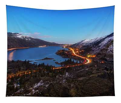 Blue Hour On The Columbia Tapestry