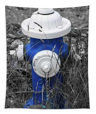 Blue Hydrant Tapestry