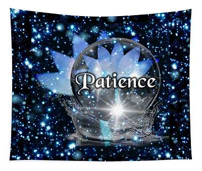 Blue Lotus Patience Tapestry